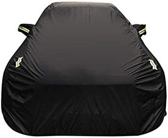 ビュイックエンビジョンオックスフォード布防水難燃性盗難防止ロック車のカバーとの互換性 (Color : Black, Size : Built-in lint)