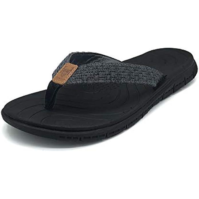 KUAILU Women's Non-Slip Casual Flip Flop Thong Sandals