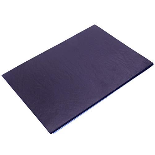 (OKIl 100Pcs Blue Carbon Hand Copier Stencil Transfer Paper Hectograph 18.5X25.5cm)