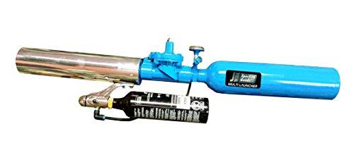 J & J Multi Launcher, Tennis ball cannon / T - Shirt Gun, PM3.0 68 Cu In with bottomline. Aluminum tank and Aluminum barrel, reusable, Air or CO2