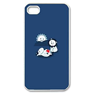 IPhone 4/4s Case Funny 182, IPhone 4/4s Case Funny, [White]