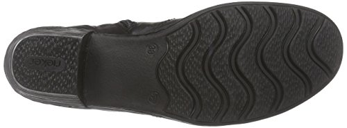 caño botas Schwarz schwarz Mujer oro bajo de Rieker72380 silber schwarz 00 Negro fEcadwSWWq