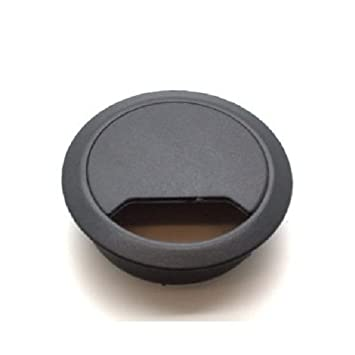 office desk cable hole. 5 black desk cable tidies 65mm grommets hole inserts tidy office g