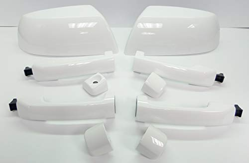 Toyota 2007-2019 Tundra Crewmax Super White Handle & Mirror Kit OE OEM