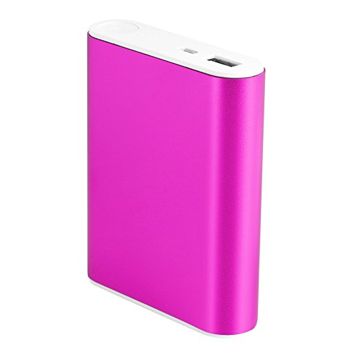 EA-STONE 10000mAh External Batteries, Ultra-Compact, High-speed Charging Technology USB Power Bank for iPhone, Samsung Galaxy and More (hot pink)