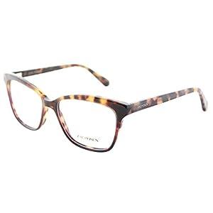 Zac Posen Sonja RD Red Tortoise Plastic Square Eyeglasses 53mm