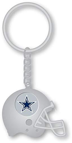 Helmet Logo Keychain - aminco NFL Dallas Cowboys Cast Helmet Keychain, Team Color, 4