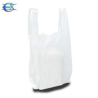EUROXANTY/® Sacs en plastique de type T-shirt Haute r/ésistance R/éutilisables et recyclables Mat/ériau poly/éthyl/ène haute densit/é avec poign/ées blanc 30 x 40-200 uds