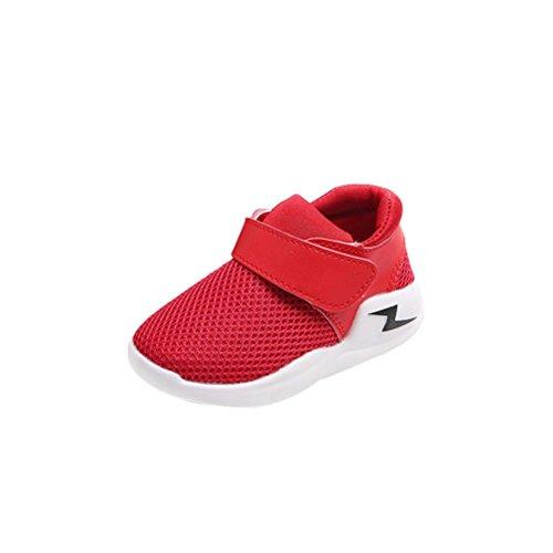 ❆HUHU833 Neue Art- und Weisebaby beiläufige Turnschuh-Sport-Schuhe im Freien laufende Schuh Mädchen Jungs Baby Rot