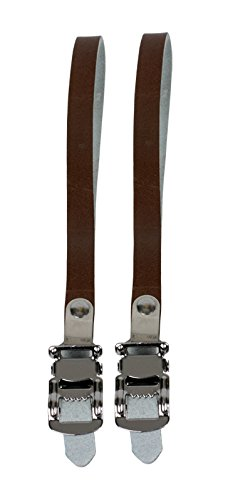 Sunlite NJ5 Leather Toe Straps Single Brown Track Fixed Gear