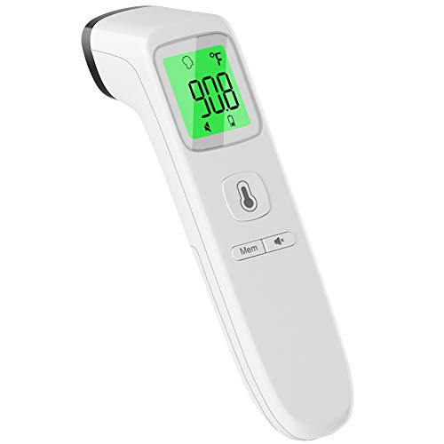 Thermometer for Adults, CHOOSEEN Non Contact Forehead Thermometer Digital Infrared Thermometer with Fever Alarm and Memory Function, Touchless Instant Reading Infrared Thermometer for Baby and Kids