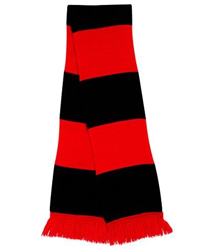 Resultado R146X seguidores bufanda, Unisex, R146X, azul oscuro y rojo, talla única Rot - Rot / Schwarz