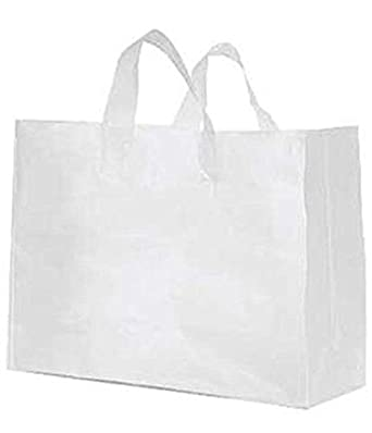 Amazon.com: 100 Bags New Retail Large Clear Frosted ...