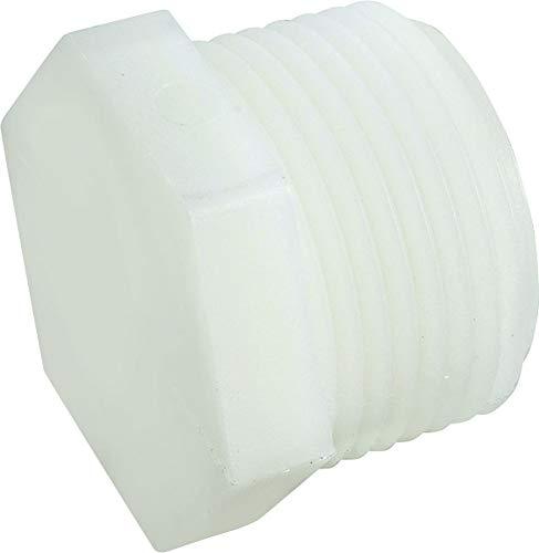 Anderson 53621-02 Hexagonal Pipe Plug, 1/8 in, MPT, Nylon/PVC