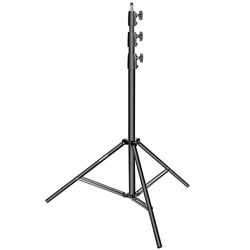 Neewer Photography Light Stand - Aluminum Alloy, Adjustable 42-118 inches/100-300 centimeters, Heavy Duty Support Stand for Photo Studio Softbox, Umbrella, Strobe Light, Reflector and Other Equipment