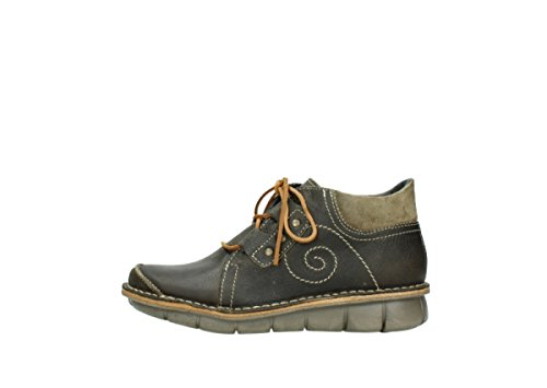 Wolky para mujer 8384 50730 Forest Green 500 Botas Leather Oiled q7qfHwx1