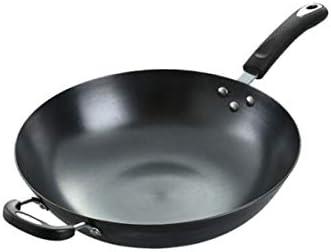 Kaiyitong001 フライパン、台所標準12.8インチ鋳鉄フライパン、ノンコートノンスティック中華鍋、ブラック,安全で (Size : 36cm)