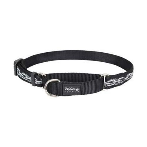 Red Dingo Designer Martingale Dog Collar, Medium, Chain