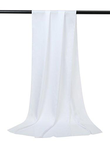 Alicepub Soft Satin Bridal Shawl Wedding Wrap Stole Scarf for Womens Evening Dress