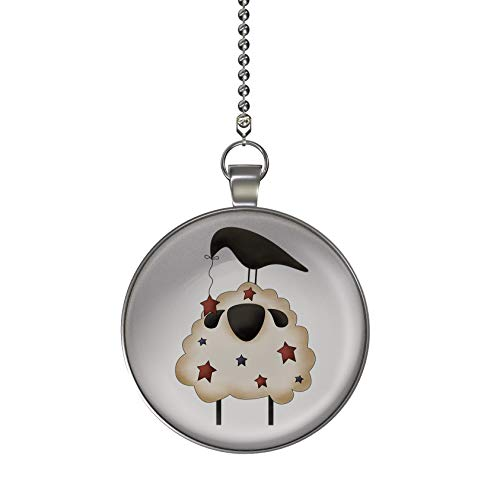 Gotham Decor Americana Sheep and Crow Fan/Light Pull Pendant with Chain ()