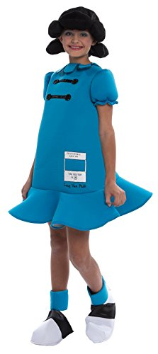 [Peanuts: Lucy Deluxe Costume for Children - Large (12-14)] (Charlie In A Box Costume)