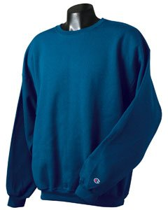 Champion 9 oz 50/50 Crew Sweatshirt S122C blue Large by Champion