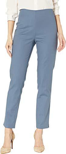 Vince Camuto Womens Doubleweave Side Zip Vented Hem Pants Dusty Blue 8 28