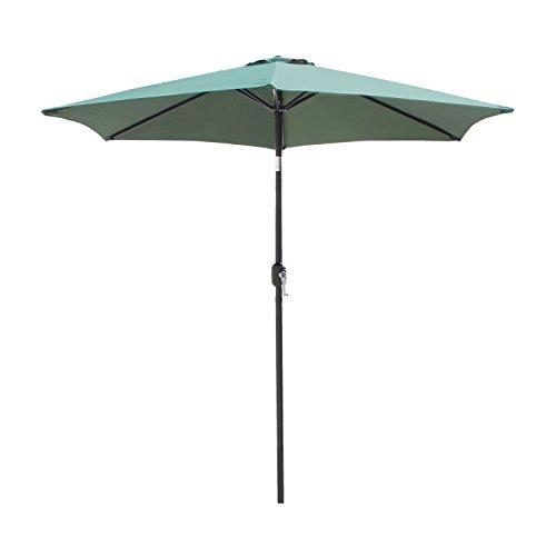 - Sliverylake 8ft Steel Outdoor Umbrella Patio Umbrella w/crank Tilt Dark Green