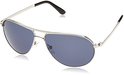 Ford Sunglasses Tom Silver - Tom Ford TF144 18V Silver Marko Pilot Sunglasses Lens Category 1 Size 58mm
