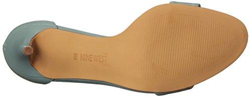 Nine West Mana cuero de tacón de la sandalia Green