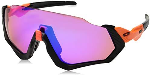 Oakley Men's Flight Jacket Sunglasses,OS,Neon Orange/Matte