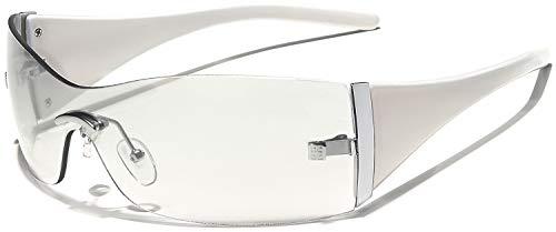 Women's Rimless Shield Fashion Statement Sunglasses (Shield Womens Rimless Sunglasses)