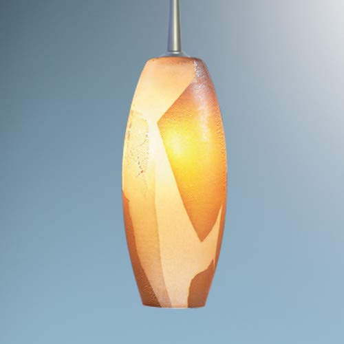(Ciro 1 Light Monopoint Pendant with Canopy Finish: Matte Chrome, Canopy/Bulb type: 2