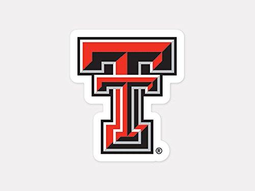 Texas Tech Colors - WinCraft NCAA Texas Tech University Perfect Cut Color Decal, 4