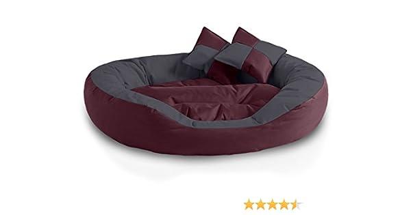BedDog® 4en1 Saba Cereza/Gris XL Aprox. 85x70cm colchón para Perro ...