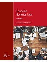 Canadian Business Law, 3rd Edition [Tamra Alexander]