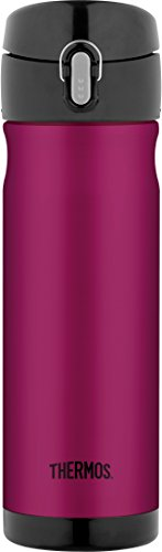 Thermos 16 Ounce Stainless Steel Commuter Bottle, Raspberry