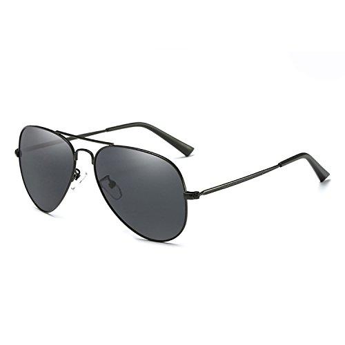 New Aviation Polarized Sunglasses Retro Pilot Sun Glasses Double Beams Glasses,C1Black GrayN (Grayn)