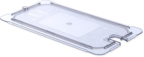 Carlisle 10277U07 StorPlus Third Size Polycarbonate Universal Flat Surface Notched Food Pan Lid, Clear (Case of 6) by Carlisle