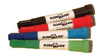 KleenSlate® Large Colored Markers with Erasers -