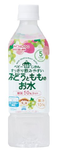 Contact water 500mlX24 pieces of undersecretary grapes and peaches of baby by Wakodo Co., Ltd.