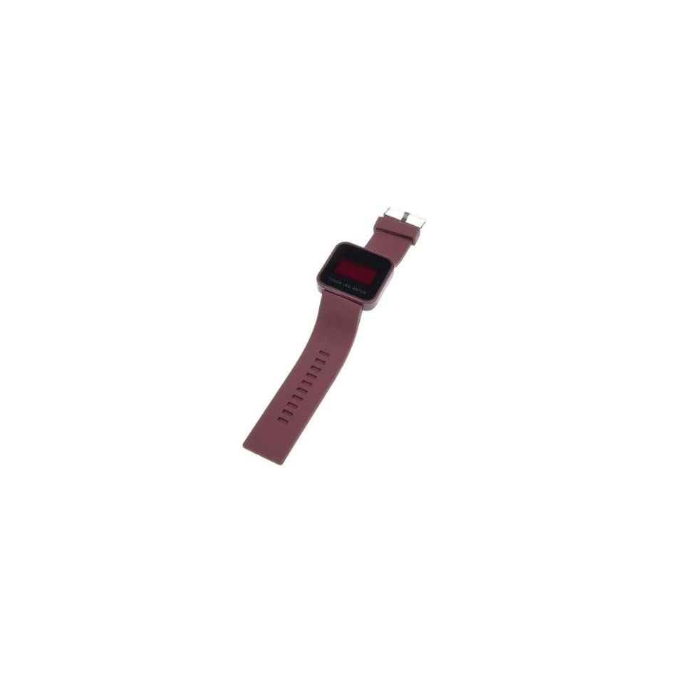 Cool Brown Touch Screen Digital LED Silicone Band Wrist Watch