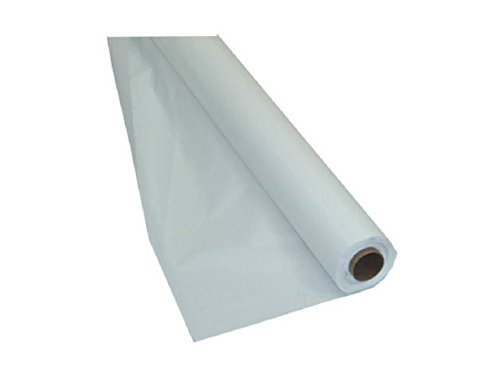 White Plastic Banquet Roll (Creative Converting Touch of Color Plastic Tablecover Banquet Roll, 250',)