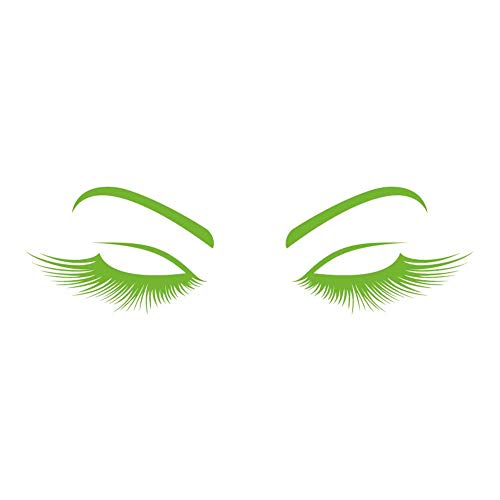 - Lovely Lady Lashes 8 inch Lime Indoor Outdoor Vinyl Decal