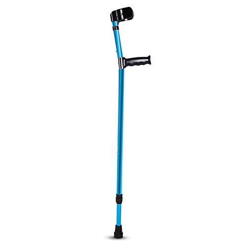 Fivtyily Foldable Walking Crutches Aluminum Alloy Adjustable Forearm Crutches for Children Short Adults (1 ()