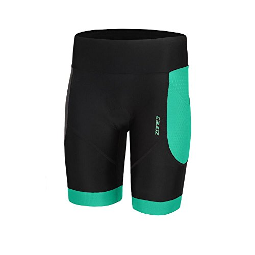 Zone3 Women's Aquaflo Plus Tri Short (Black/Mint, X-Large)