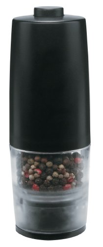 Trudeau One-Hand Battery Operated Pepper Mill, Black (Left Hand Grinder compare prices)