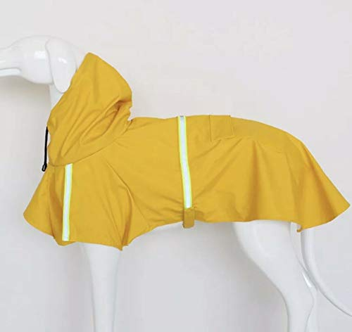 - Boomer888 Big Dog Puppy Rain Jacket Yellow Raincoat Puppy Clothes Polyester Waterproof Double Extra Large Size Neck 17.3 inch