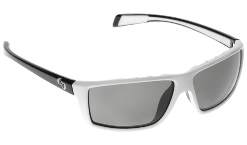 Native Sidecar Polarized Sunglasses, Gray, White Front/Iron - Sunglasses Sports Boots
