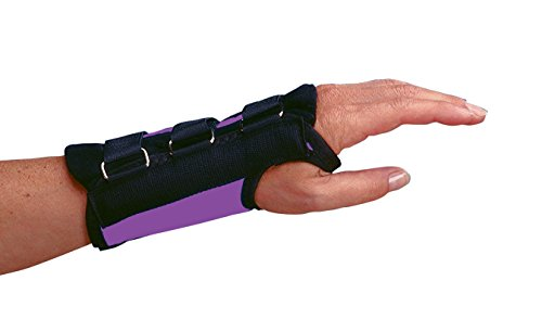 Rolyan Purple D-Ring Left Wrist Brace, Size Small Fits Wrists 5.75''-6.5'', Wrist Brace 6.5'' Long with Straps and D-Ring Connectors to Secure and Stabilize Hands and Wrists and Provide Comfort by Rolyan (Image #1)